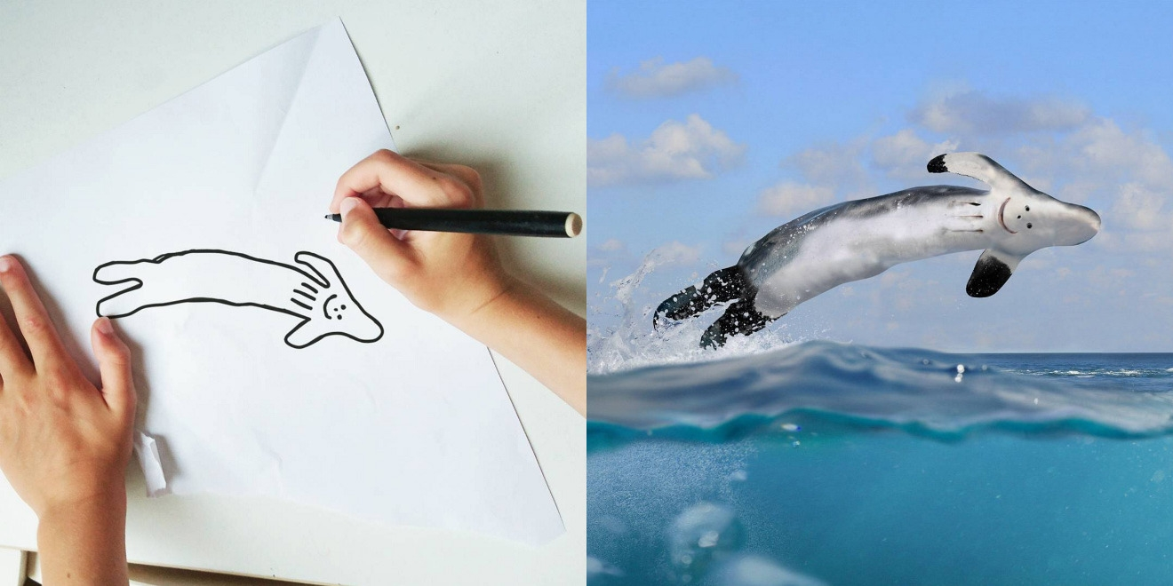 Whale Drawing Both